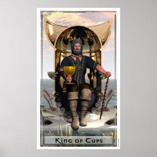 Rey del poster de las tazas