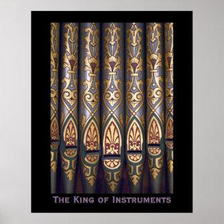 Rey del poster de los instrumentos