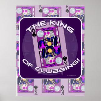 Rey del poster del ir de discotecas
