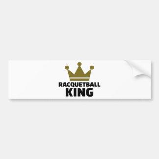 Rey del Racquetball Pegatina Para Auto