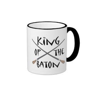 Rey del regalo del conductor del bastón taza a dos colores