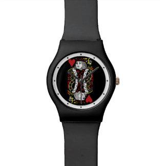 Rey del reloj del diseño de los corazones