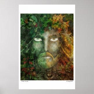 rey del roble/rey del acebo póster