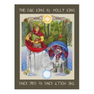 Rey del roble y rey del acebo tarjetas postales