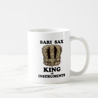 Rey del saxofón de Bari de instrumentos Taza De Café