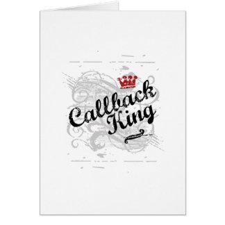 Rey del servicio repetido tarjeta de felicitación