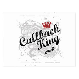 Rey del servicio repetido tarjetas postales