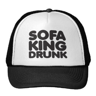 rey del sofá bebido gorras