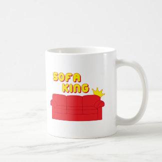 Rey del sofá taza de café
