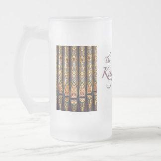 Rey del stein de los instrumentos taza de cristal