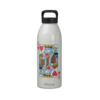 Rey del suicidio de Bicycle® de corazones Botella De Agua Reutilizable