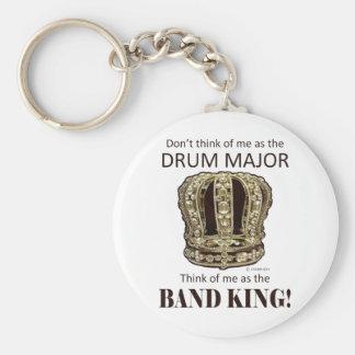 Rey del tambor mayor llaveros personalizados