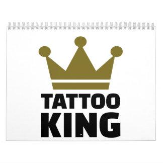 Rey del tatuaje calendarios de pared