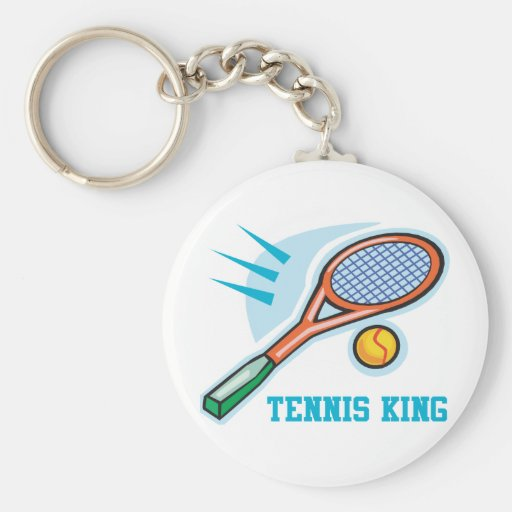 Rey del tenis llaveros personalizados