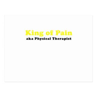 Rey del terapeuta físico del dolor aka postal