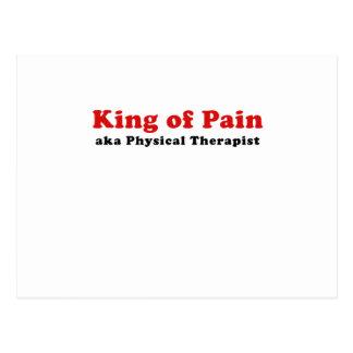 Rey del terapeuta físico del dolor aka tarjeta postal
