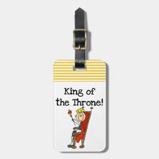 Rey del trono etiqueta de equipaje