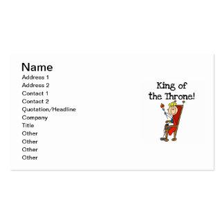 Rey del trono tarjetas de visita