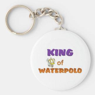Rey del waterpolo llavero redondo tipo pin