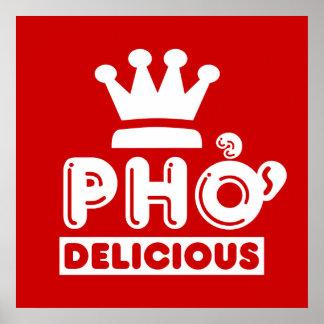 Rey Delicious de Pho Póster