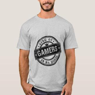Rey divertido de la camiseta del Grunge del juego