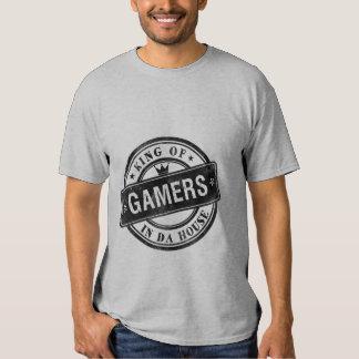 Rey divertido de la camiseta del Grunge del juego Playera