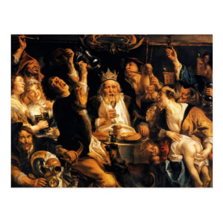 Rey Drinks de Jacob Jordaens- Tarjetas Postales