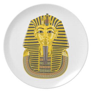 Rey egipcio Pharaoh Plato De Comida