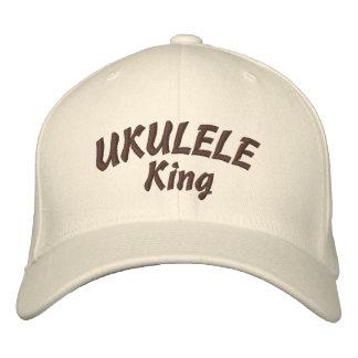 Rey Embroidered Hat del Ukulele Gorra Bordada