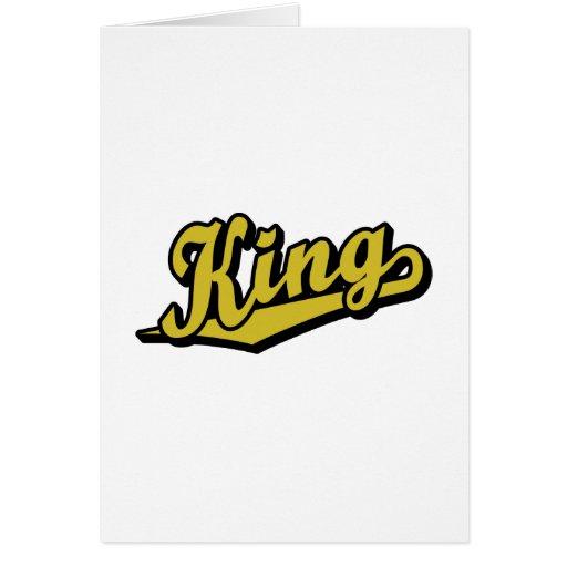 Rey en oro tarjetón