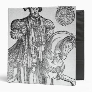 """Rey Enrique VIII a caballo Carpeta 1 1/2"""""""