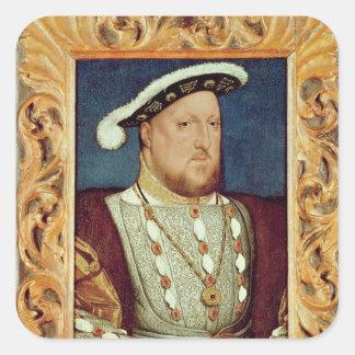 Rey Enrique VIII Pegatina Cuadrada