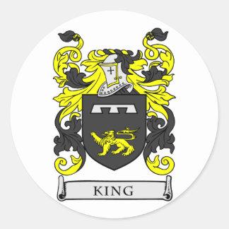 REY escudo de armas Pegatina Redonda