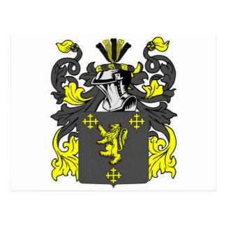 Rey escudo de armas tarjetas postales
