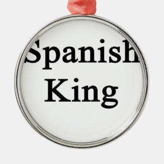 Rey español adorno navideño redondo de metal