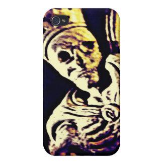 REY ESQUELÉTICO MEDIEVAL WITH CROWN iPhone 4 PROTECTORES
