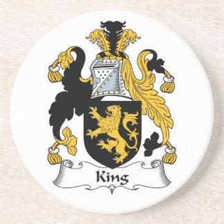 Rey Family Crest Posavasos Diseño