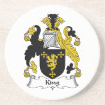 Rey Family Crest Posavasos Personalizados