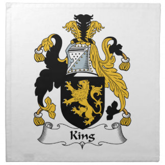 Rey Family Crest Servilletas Imprimidas