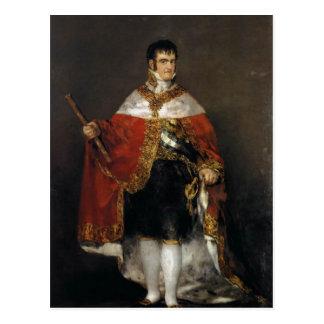 Rey Fernando VII de España en sus trajes del estad Postal