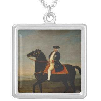 Rey Frederick Guillermo I a caballo Colgante Cuadrado