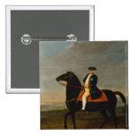 Rey Frederick Guillermo I a caballo Pin Cuadrado