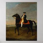 Rey Frederick Guillermo I a caballo Póster