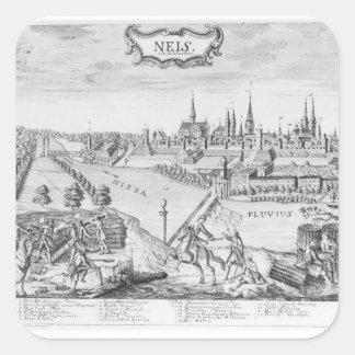 Rey Frederick II de Prusia Pegatina Cuadrada