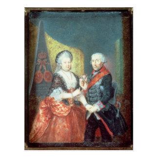 Rey Frederick II y su esposa Tarjeta Postal