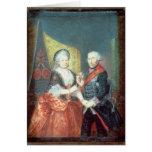 Rey Frederick II y su esposa Tarjetón