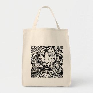 rey fresco del vintage del diseño del tigre de la  bolsa tela para la compra