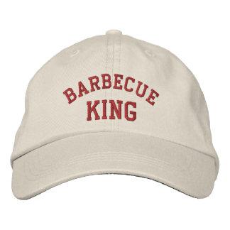 Rey Funny Embroidered Hat de la barbacoa Gorras Bordadas