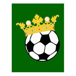 Rey fútbol king soccer tarjeta postal