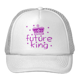 Rey futuro Cute Royalty Tshirt Gorros Bordados